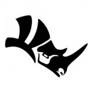 لوگوی راینو در هرمیس3d